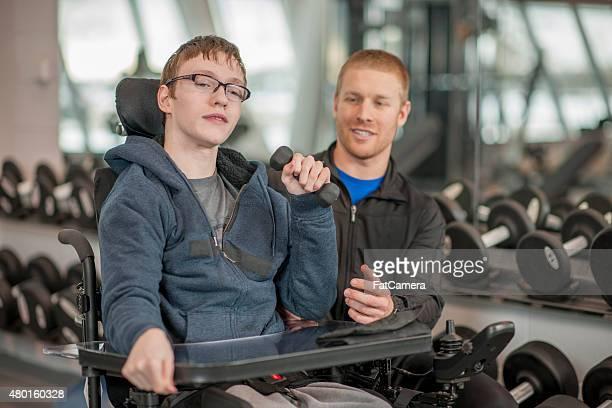 Persönliches Training für Behinderte junge Erwachsene