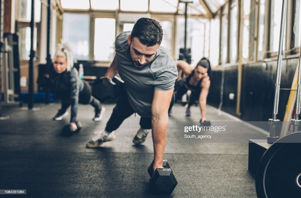 Personal Weight Training In The Gym : Stock Photo