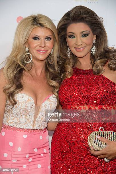 Personalies Gamble Breaux and Gina Liano arrive ahead of the Red Ball 2015 at the Grand Hyatt on September 5 2015 in Melbourne Australia