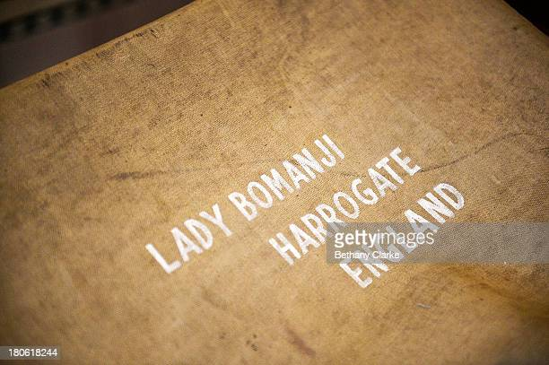 Personalised luggage kept in the box room in Pineheath house on September 4 2013 in Harrogate England The untouched 40bedroom house belonged to...