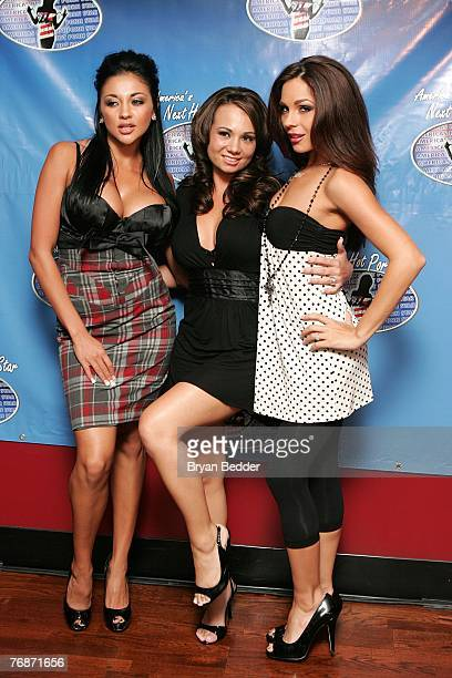 "Personalites Audrey Bitoni, Holly West and Kristen Price attends the press conference to announce ""America's Next Hot Porn Star"" reality TV series at..."