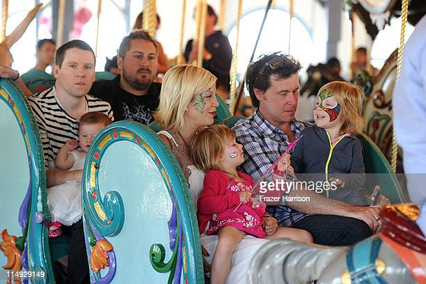 TV personalites Bill Horn and Scout Masterson celebrate the first birthday of their daughter Simone MastersonHorn along with Tori Spelling Dean...