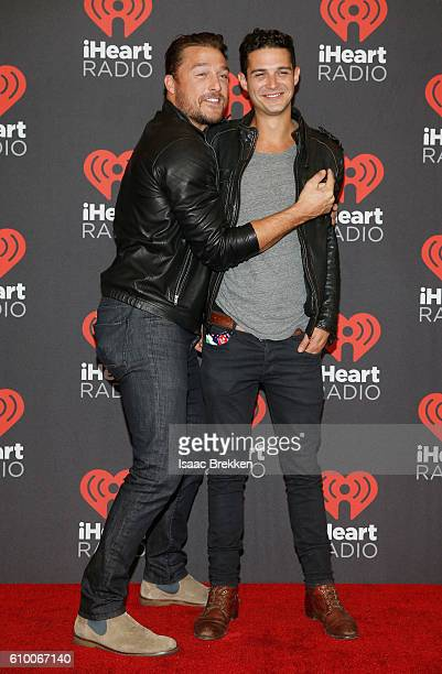 Personalites Chris Soules and Wells Adams attend the 2016 iHeartRadio Music Festival at TMobile Arena on September 23 2016 in Las Vegas Nevada