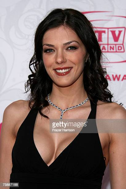 TV personalitie Adrianne Curry arrives at the 5th Annual TV Land Awards held at Barker Hangar on April 14 2007 in Santa Monica California