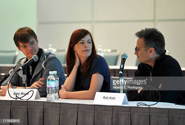 TV personalities Adam Berry Amy Bruni and executive producer Rob Katz speak at Reality Rocks Expo Day 1 at the Los Angeles Convention Center on April...