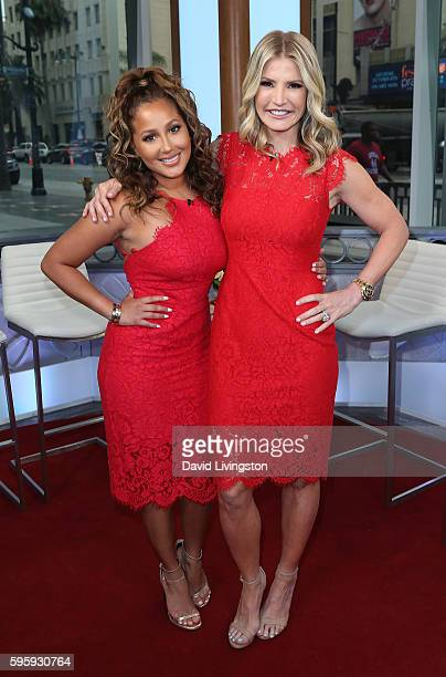 TV personalities Adrienne Bailon and Dayna Devon pose at Hollywood Today Live at W Hollywood on August 26 2016 in Hollywood California