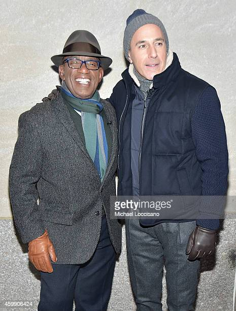 TV personalities Al Roker and Matt Lauer attend the 82nd annual Rockefeller Christmas Tree Lighting Ceremony at Rockefeller Center on December 3 2014...