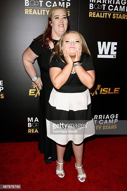 TV personalities Alana Honey Boo Boo Thompson and Mama June Shannon attend the We tv celebrates the premiere of Marriage Boot Camp Reality Stars and...