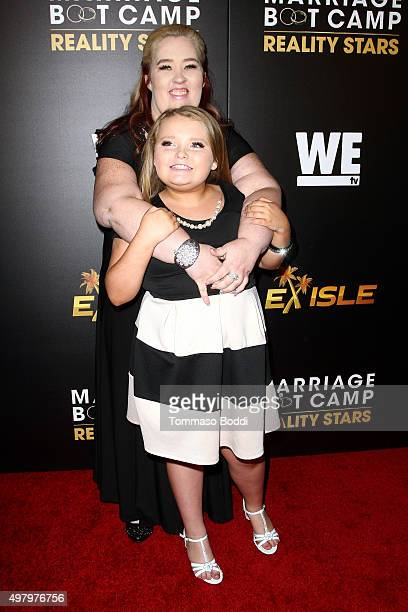 TV personalities Alana 'Honey Boo Boo' Thompson and Mama June Shannon attend the We tv celebrates the premiere of 'Marriage Boot Camp' Reality Stars...