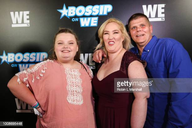WE TV Personalities Alana Thompson Honey Boo Boo June Shannon Mama June and Geno attends the 2nd Annual Bossip Best Dressed List event at Avenue on...