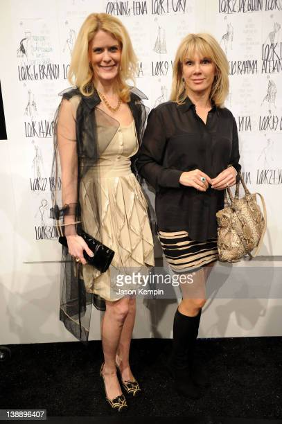 TV personalities Alex McCord and Ramona Singer pose backstage at the Zang Toi Fall 2012 fashion show during MercedesBenz Fashion Week at The Studio...