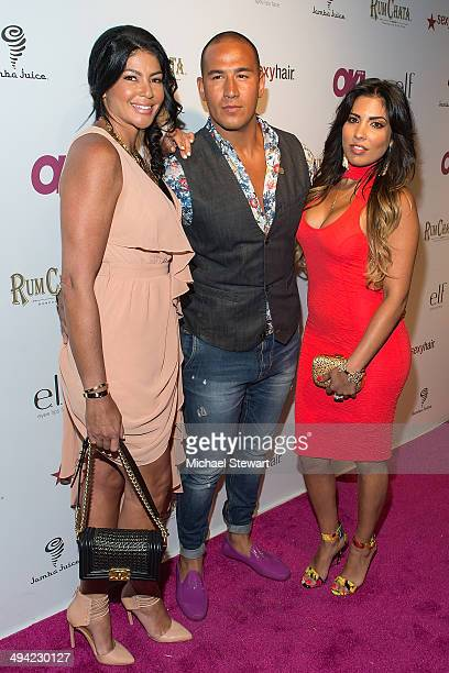 "Personalities Alicia DiMichelle, London and Natalie Guercio attend OK! Magazine's ""So Sexy"" NY party at Marquee on May 28, 2014 in New York City."