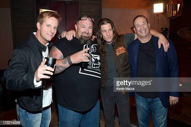 Personalities Allen Haff, Clinton Jones, Urban Tarzan and Jon Taffer attend the 2013 Spike TV Guys Choice at Sony Pictures Studios on June 8, 2013 in...