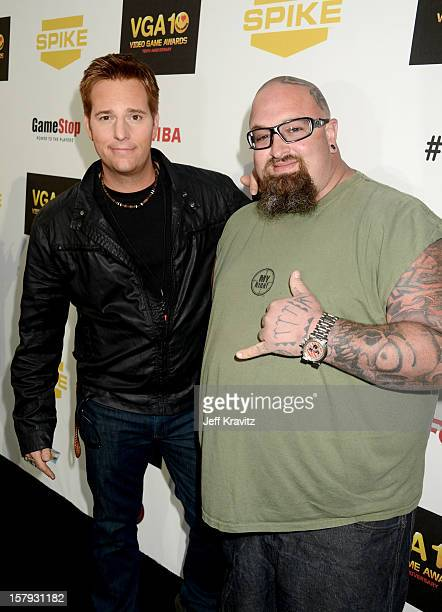 Personalities Allen Lee Haff and Clinton 'Ton' Jones arrive at Spike TV's 10th annual Video Game Awards at Sony Pictures Studios on December 7, 2012...