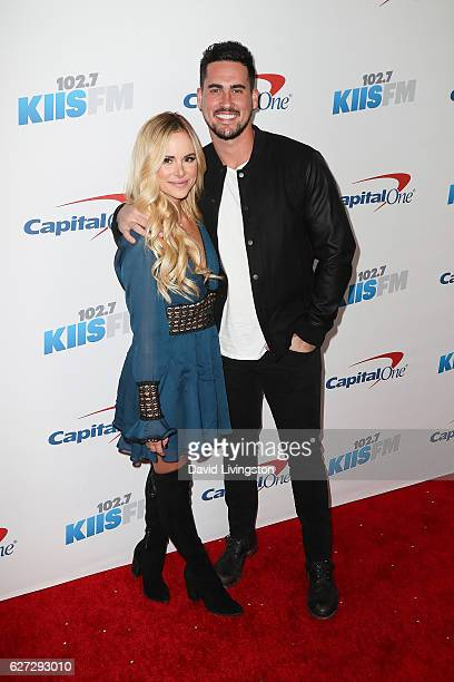 TV personalities Amanda Stanton and Josh Murray arrive at 1027 KIIS FM's Jingle Ball 2016 at the Staples Center on December 2 2016 in Los Angeles...