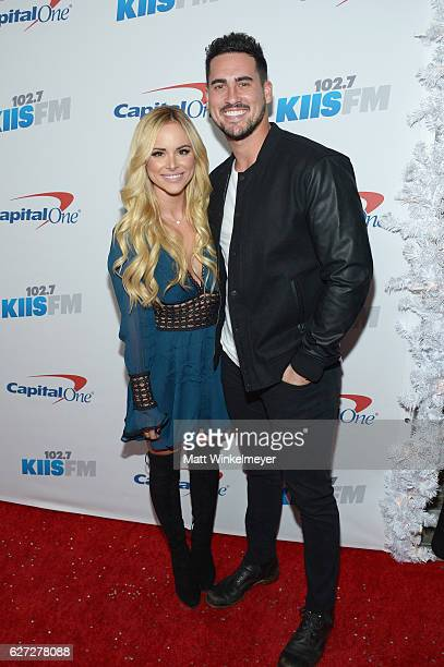TV personalities Amanda Stanton and Josh Murray attend 1027 KIIS FM's Jingle Ball 2016 at Staples Center on December 2 2016 in Los Angeles California