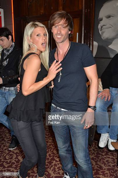 TV personalities Amelie Neten from 'Secret Story 4' and TV musician Gilles Luka attend 'Les Anges de la Tele Realite' Launch Party at Hard Rock Cafe...