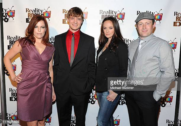 TV personalities Amy Bruni Adam Berry Kris Williams and Barry Fitzgerald attend the Reality Rocks Expo Fan Awards at the Los Angeles Convention...