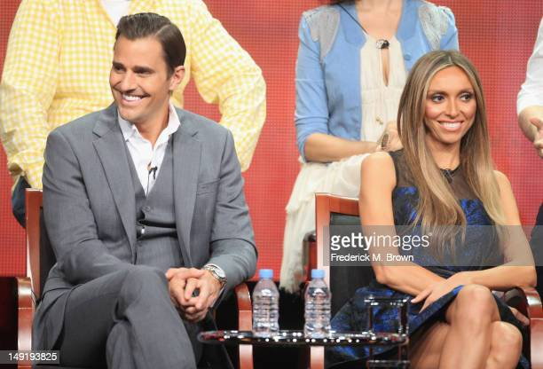 Personalities and CoHosts Bill Rancic and Giuliana Rancic speak onstage at the 'Ready For Love' panel during day 4 of the NBCUniversal portion of the...