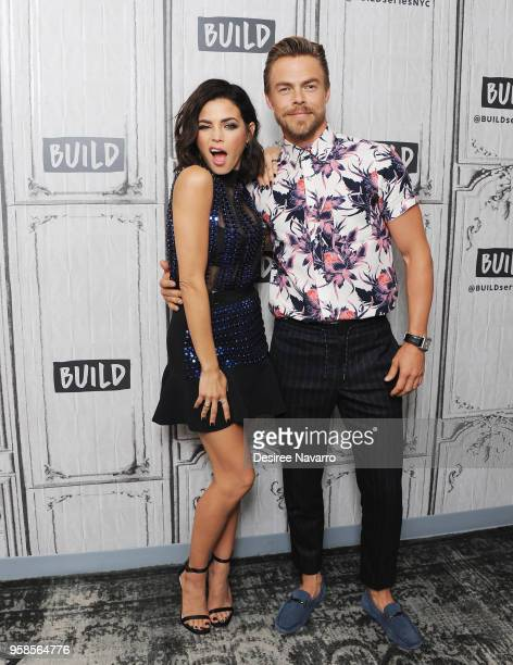 Personalities and dancers Jenna Dewan and Derek Hough visit Build Series to discuss 'World of Dance' at Build Studio on May 14, 2018 in New York City.