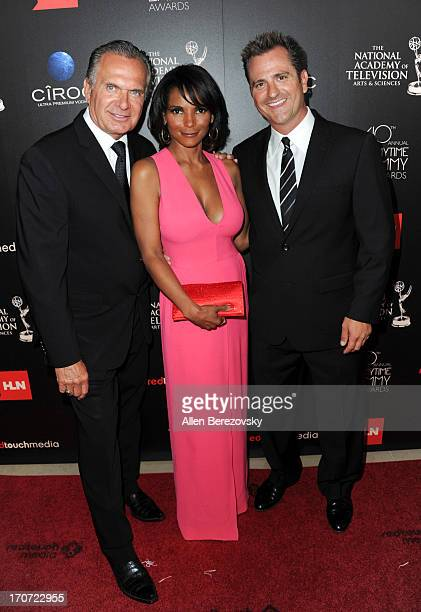 TV personalities Andrew P Ordon Lisa Masterson and Jim Sears attend 40th Annual Daytime Entertaimment Emmy Awards Arrivals at The Beverly Hilton...