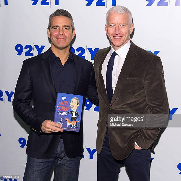 TV personalities Andy Cohen and Anderson Cooper attend 92nd Street Y Presents Andy Cohen in Conversation with Anderson Cooper at 92nd Street Y on...