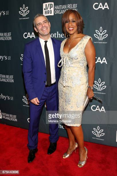 TV personalities Andy Cohen and Gayle King attend The Sean Penn Friends Haiti Takes Root Benefit Dinner Auction Supporting J/P Haitian Relief...
