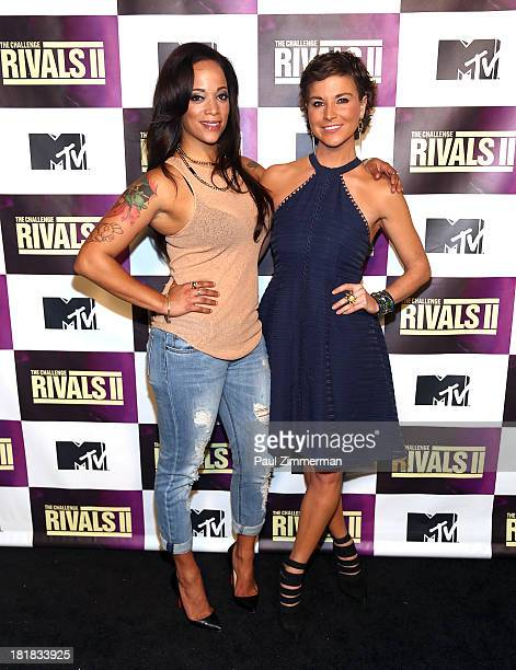 TV personalities Aneesa Ferreira and Diem Brown attend MTV's 'The Challenge Rivals II' Final Episode and Reunion Party at Chelsea Studio 'B' on...