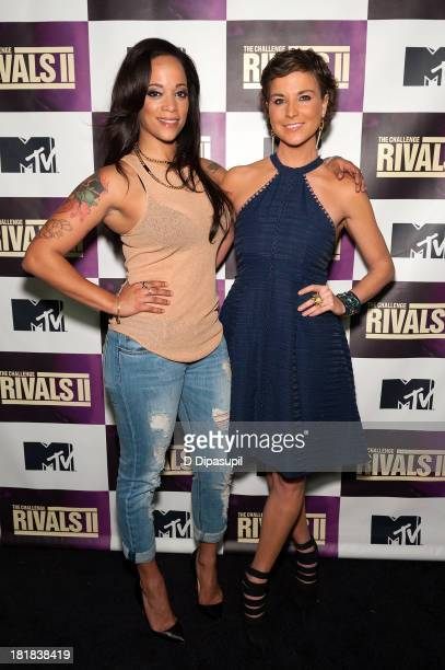 TV personalities Aneesa Ferreira and Diem Brown attend MTV's 'The Challenge Rivals II' Final Episode and Reunion Party at Chelsea Studio on September...