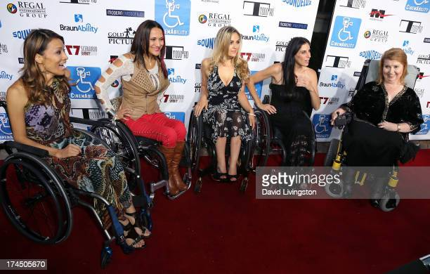 TV personalities Angela Rockwood Auti Angel Tiphany Adams and Mia Schaikewitz and director Jenni Gold attend the Los Angeles premiere of...