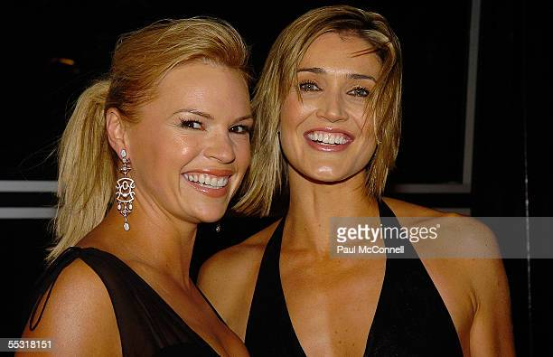 TV personalities Anna Coren and Sonia Kruger attend the Dancing With New Idea Party at Cargo Bar September 8 2005 in Sydney Australia
