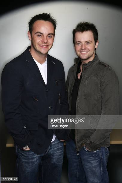 TV personalities Anthony McPartlin and Declan Donnelly pose at a studio session to promote their debut film 'Alien Autopsy' ahead of its UK Premiere...