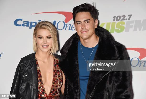 TV personalities Ariana Madix and Tom Sandoval arrive at 1027 KIIS FM's Jingle Ball 2017 at The Forum on December 1 2017 in Inglewood California
