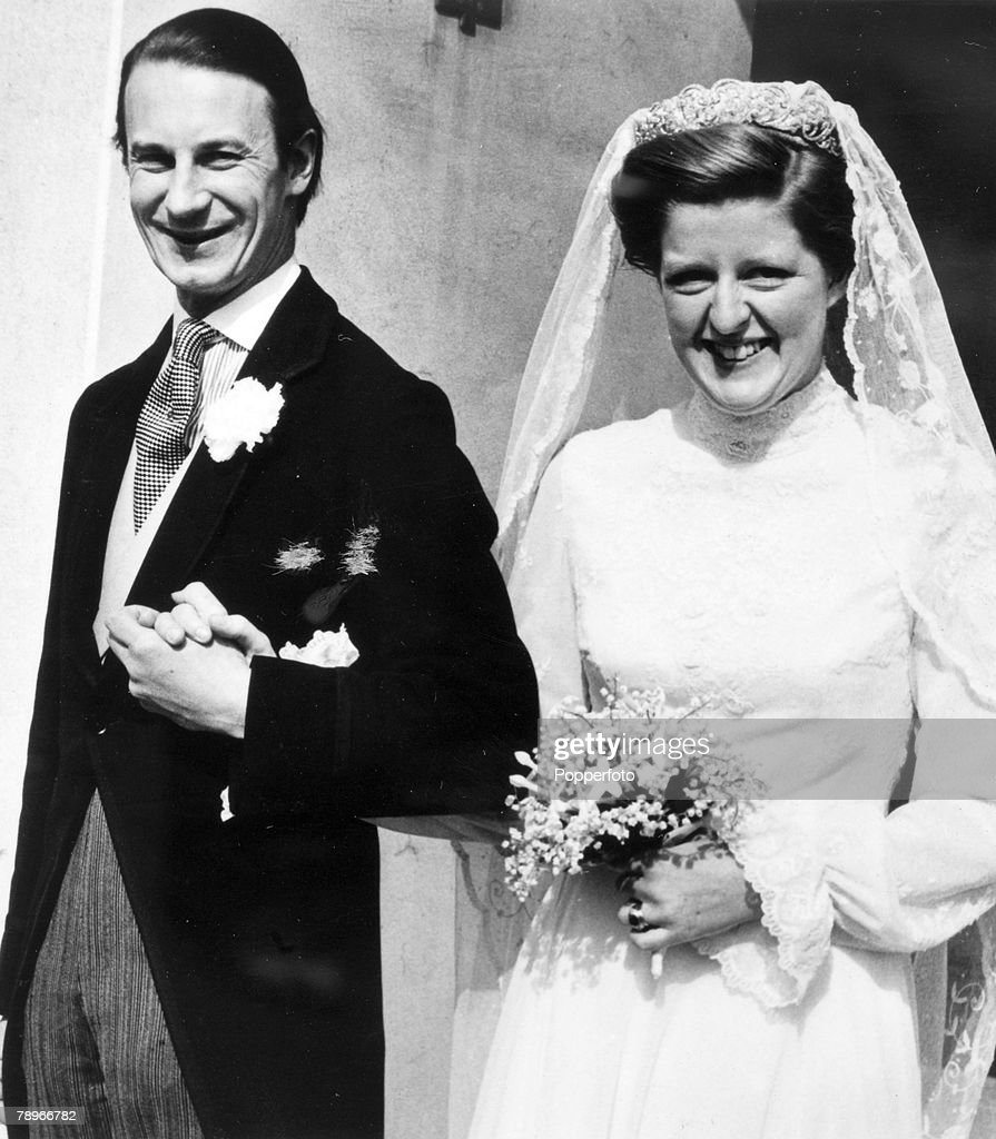 Personalities. Aristocracy. pic: 1978. London. The wedding of Lady Jane Spencer to Rt. Hon. Sir Robert Fellowes. (Lady Jane Spencer is the sister of the late Diana, Princess of Wales. : ニュース写真