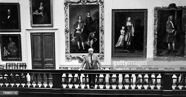 circa 1960's The 7th Earl Spencer pictured at Althorp House amongst the priceless portraits
