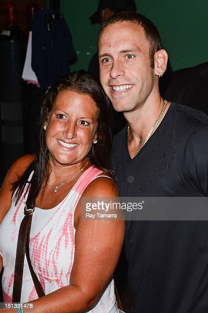 TV personalities Ashley Broad and Seth Gold enter the Good Afternoon America taping at the ABC Times Square Studios on September 5 2012 in New York...