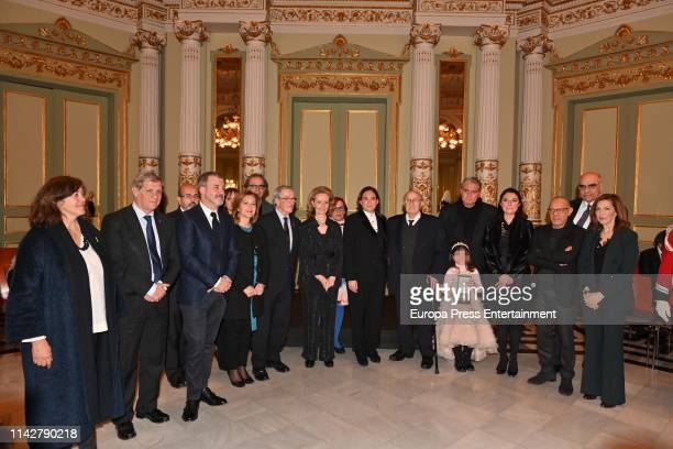 personalities attend the postume delivery of the Golden Medal of the City to Montserrat Caballe on April 12 2019 in Barcelona Spain
