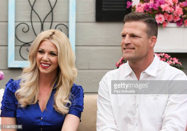 Personalities Aubrey Marunde and Bristol Marunde visit Hallmark's Home Family at Universal Studios Hollywood on March 18 2019 in Universal City...