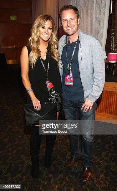 TV personalities Becca Tilley and Chris Harrison at 1027 KIISFM's Jingle Ball 2015 Presented by Capital One exclusive Gift Lounge at Staples Center...