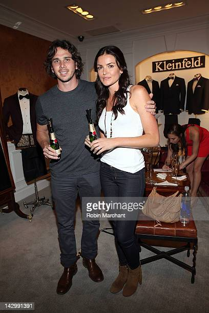 Personalities Ben Flajnik and Courtney Robertson attend Mark Zunino Bridal Show at Kleinfeld on April 16, 2012 in New York City.