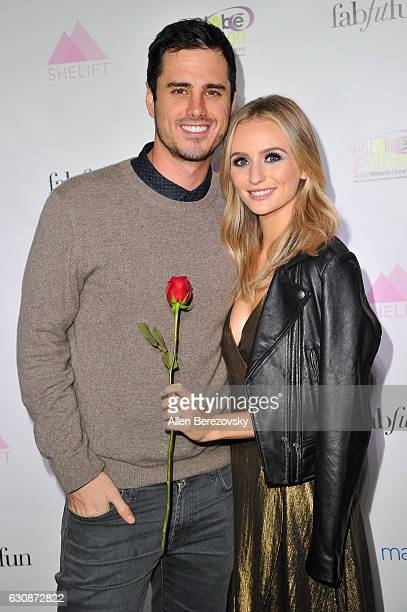 TV personalities Ben Higgins and Lauren Bushnell attend the premiere party for The Bachelor Charity at Sycamore Tavern on January 2 2017 in Los...