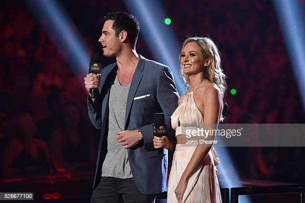 TV personalities Ben Higgins and Lauren Bushnell speak onstage during the 2016 iHeartCountry Festival at The Frank Erwin Center on April 30 2016 in...