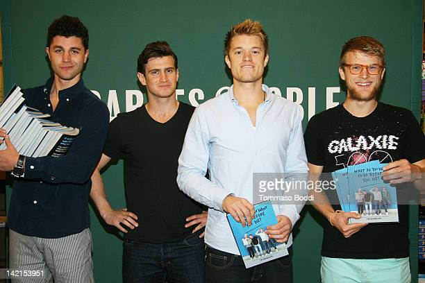 """Personalities Ben Nemtin, Dave Lingwood, Duncan Penn and Jonnie Penn attend """"The Buried Life: What Do You Want to Do Before You Die?"""" book signing at..."""