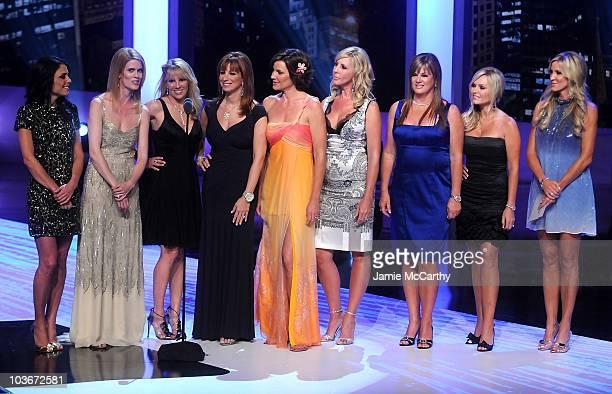 TV personalities Bethenny Frankel Alex McCord Ramona Singer Jill Zarin LuAnn de Lesseps Vicki Gunvalson Jeana Keough Jeana Keough and Lauri Waring on...