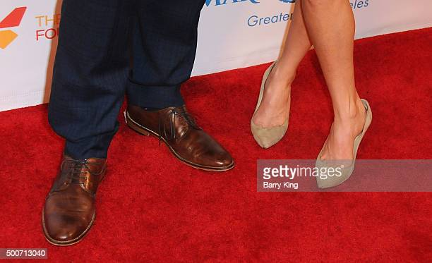 TV personalities Billy Bush and Kit Hoover shoe detail attends the MakeAWish Greater Los Angeles Annual Wishing Well Winter Gala at the Beverly...