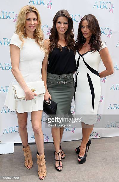 TV personalities Brandi Glanville Adrienne Janic and Carlton Gebbia attend the ABCs Mother's Day Luncheon at the Four Seasons Hotel Los Angeles at...