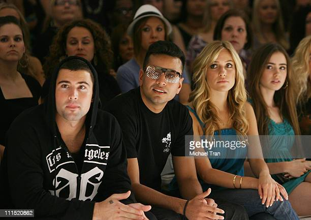 TV Personalities Brody Jenner and Kristin Cavallari front row at Lauren Conrad Fall 2008 collection during Mercedes Benz LA Fashion Week held at...