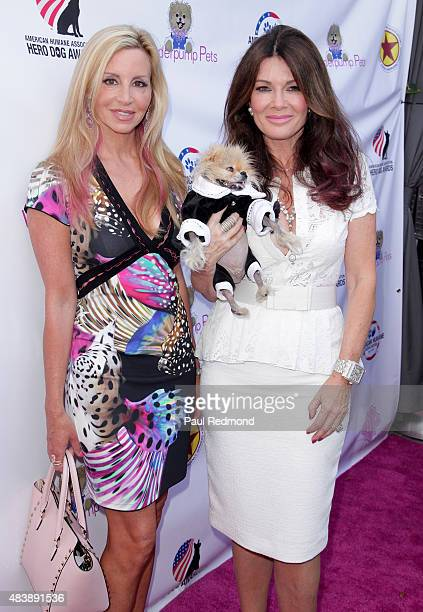 TV personalities Camille Grammer and Lisa Vanderpump arrive at a luncheon benefitting The American Humane Association and The Hero Dog Awards at Pump...