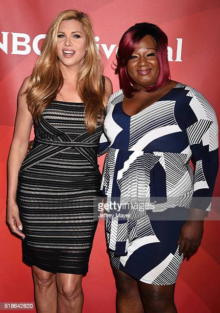 Personalities Candis Cayne and Chandi Moore arrive at the 2016 Summer TCA Tour - NBCUniversal Press Tour at the Four Seasons Hotel - Westlake Village...
