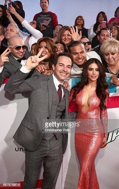 TV personalities Carlos Calderon and Jessica Cediel attend the 16th Latin GRAMMY Awards at the MGM Grand Garden Arena on November 19 2015 in Las...